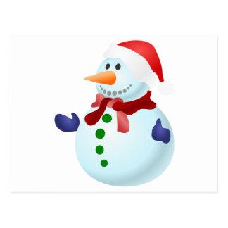 Cartão Postal Boneco de neve decorado