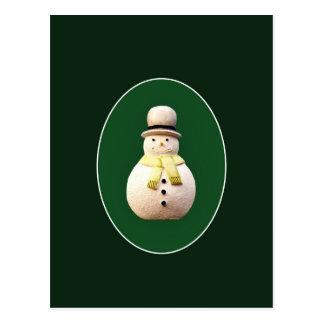 Cartão Postal Boneco de neve do Xmas