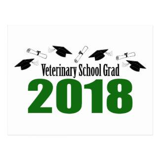 Cartão Postal Bonés do formando 2018 da escola veterinária &
