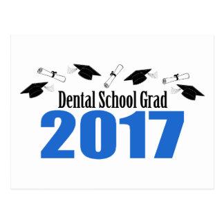 Cartão Postal Bonés e diplomas do formando 2017 da escola dental