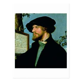 Cartão Postal Bonifacius Amerbach, 1519 (óleo no pinewood)