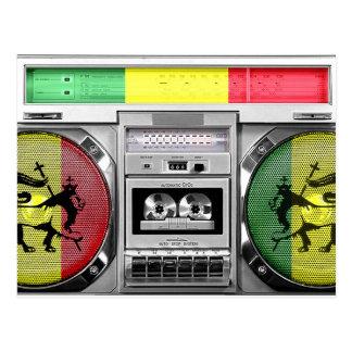 Cartão Postal boombox da reggae