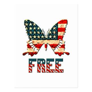 Cartão Postal Borboleta americana da liberdade