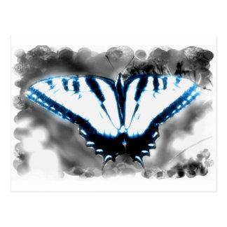Cartão Postal Borboleta azul de choque