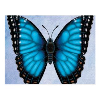 Cartão Postal Borboleta azul de Morpho