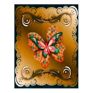 Cartão Postal Borboleta de Flutterings limitada