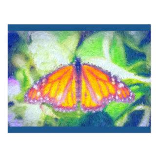 Cartão Postal Borboleta impressionista
