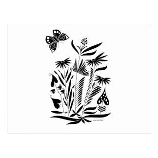 Cartão Postal Borboleta na grama