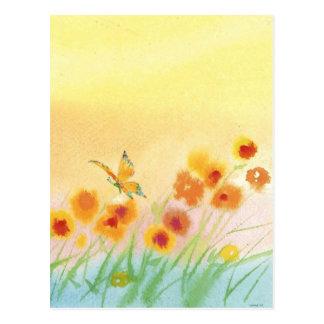 Cartão Postal borboleta no campo selvagem