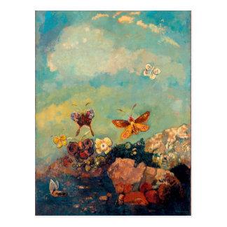 Cartão Postal Borboletas | Odilon Redon