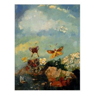 Cartão Postal Borboletas por Odilon Redon