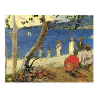 Cartão Postal Borda do mar - Paul Gauguin