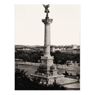 Cartão Postal Bordéus, France, coluna