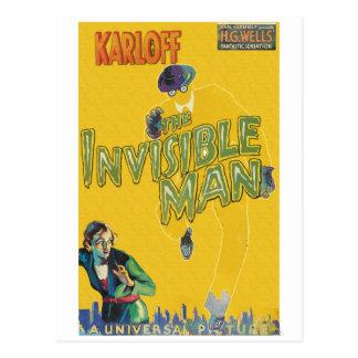 Cartão Postal Boris Karloff como o homem invisível