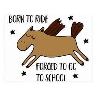 Cartão Postal born to ride