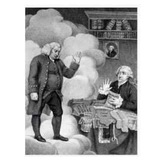 Cartão Postal Boswell e o fantasma de Samuel Johnson