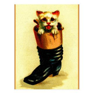 Cartão Postal Bota de n do Puss '