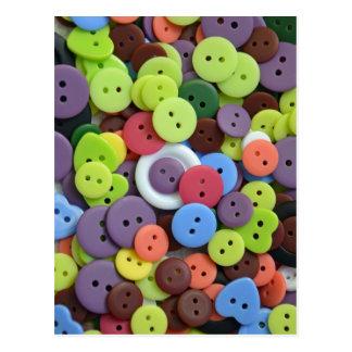 Cartão Postal Botões assorted coloridos