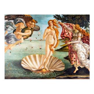 Cartão Postal Botticelli bonito Venus restaurado e Recolored
