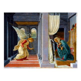 Cartão Postal Botticelli o aviso