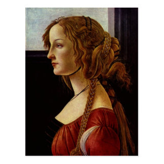 Cartão Postal Botticelli, Sandro Portr? der Simonetta Vespucci