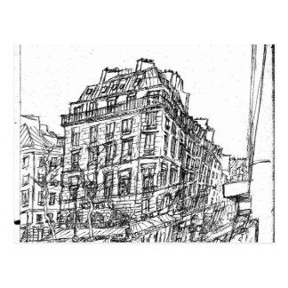 Cartão Postal Boulevard Paris arquitectura a Boémia rua existe