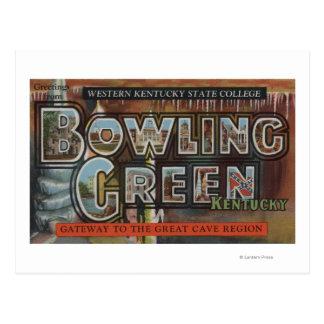 Cartão Postal Bowling Green, Kentucky - grandes cenas da letra