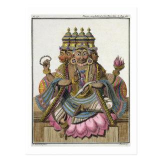 Cartão Postal Brahma, deus Hindu da criação, 'da viagem auxiliar
