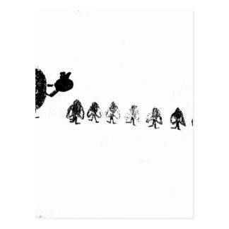 Cartão Postal Branco da neve