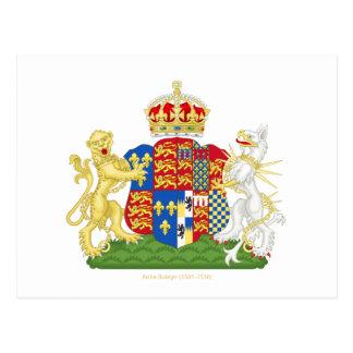 Cartão Postal Brasão Anne Boleyn