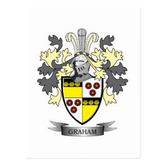 Cartão Postal Brasão da crista da família de Graham
