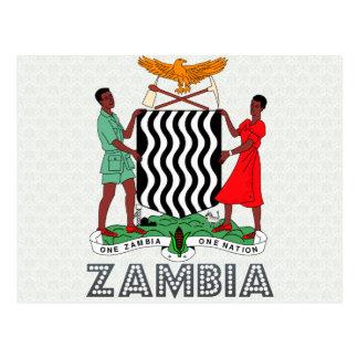 Cartão Postal Brasão da Zâmbia