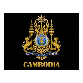 Cartão Postal Brasão de Cambodia