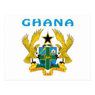 Cartão Postal Brasão de Ghana