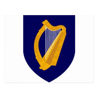 Cartão Postal Brasão de Ireland - emblema irlandês