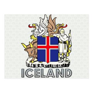Cartão Postal Brasão de Islândia