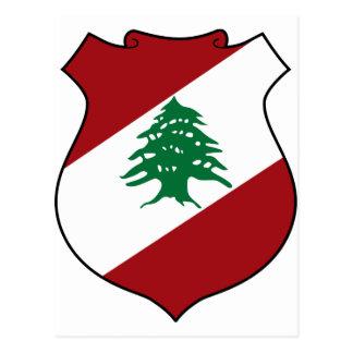 Cartão Postal Brasão de Líbano