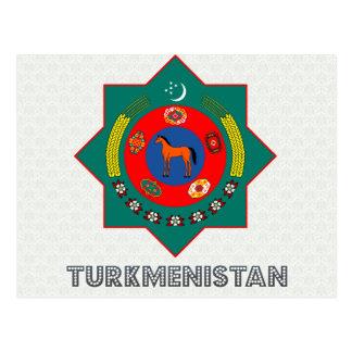 Cartão Postal Brasão de Turkmenistan