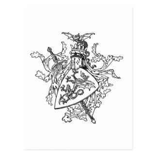 Cartão Postal Brasão do rei Arthur