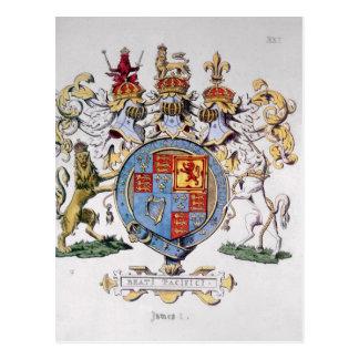 Cartão Postal Brasão do rei James mim de Inglaterra