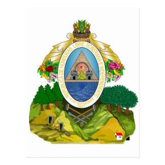 Cartão Postal Brasão HN de Honduras
