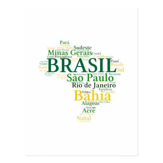 Cartão Postal Brasil Estados e Capitais