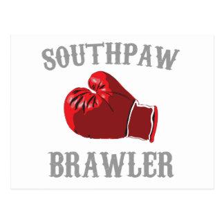 Cartão Postal brawler do southpaw