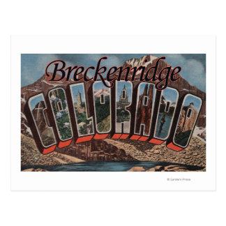 Cartão Postal Breckenridge, Colorado - grandes cenas da letra