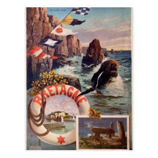 Cartão Postal Bretagne - en Mer Bretagne de Ile do Belle