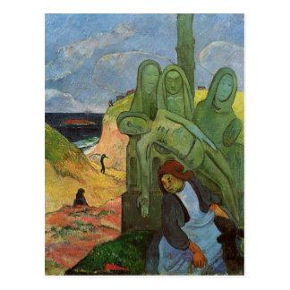 Cartão Postal Bretão de Calvaire por Paul Gauguin