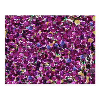 Cartão Postal Brilho cor-de-rosa da faísca dos Sequins