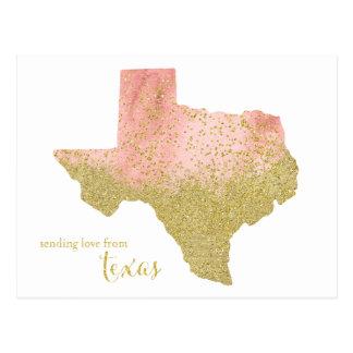Cartão Postal Brilho do pêssego e do ouro que envia o amor de