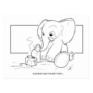 Cartão Postal Brinde do elefante