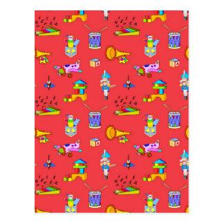 Cartão Postal Brinquedos - cilindros roxos e chifres dourados